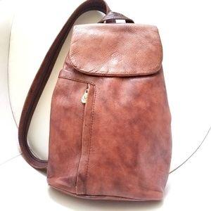 Valentina Brown Leather Backpack / Shoulder Bag